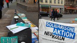 Bilder vom Infostand im Dezeber auf der Karl-Marx-Straße